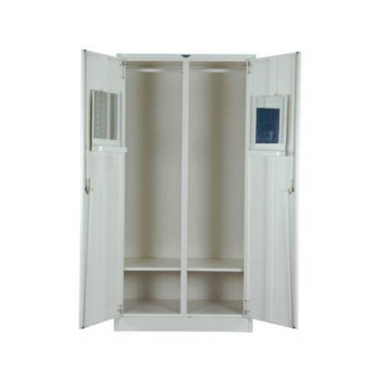 ตู้เสื้อผ้า 2 บานเปิดสูงเงา 4 ฟุต 1 แผ่นชั้น WD4FMR1SC