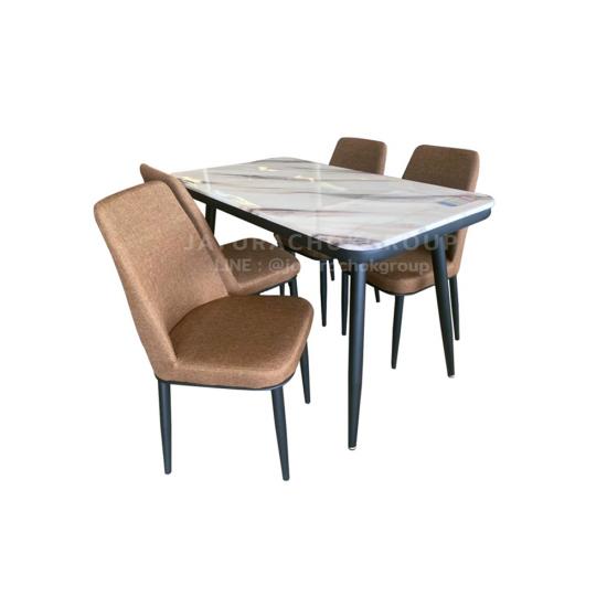 โต๊ะอาหาร 4 ที่นั่ง แกร็บ (สีน้ำตาล)