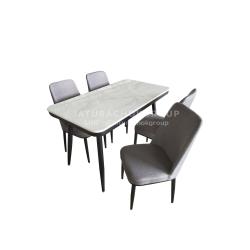 โต๊ะอาหาร 4 ที่นั่ง แกร็บ (สีเทา)