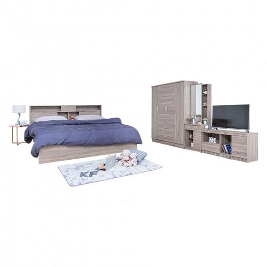 ชุดห้องนอน KF14 สีเทาลายไม้