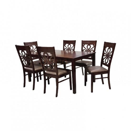 ชุดโต๊ะอาหาร 6 ที่นั่ง ป๊อปปี้