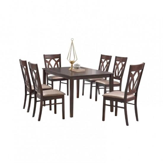 ชุดโต๊ะอาหาร 6 ที่นั่ง รีอา