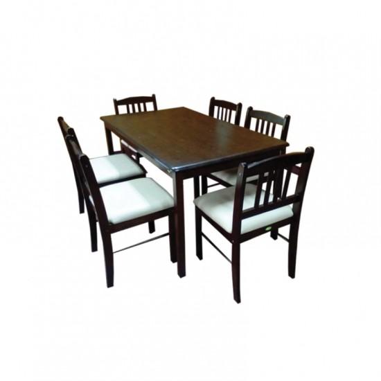 ชุดโต๊ะอาหาร 6 ที่นั่ง แพนด้า