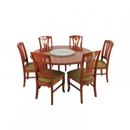 ชุดโต๊ะอาหารกลม 6 ที่นั่ง ริชชี่