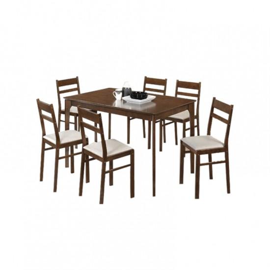 ชุดโต๊ะอาหาร 6 ที่นั่ง ไวน์