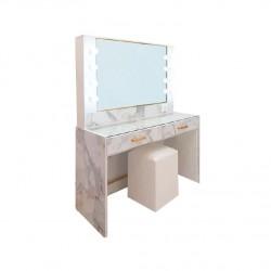 โต๊ะแป้งไวท์โกล