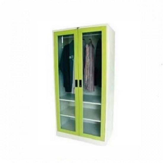 ตู้เสื้อผ้า 2 บานเปิดกระจกใส 3 ฟุต