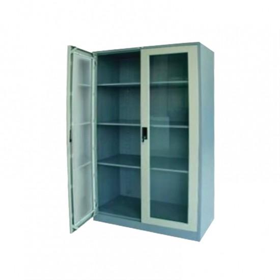 ตู้เอกสาร 2 บานเปิดกระจก 3 ฟุต (มือจับฝัง)