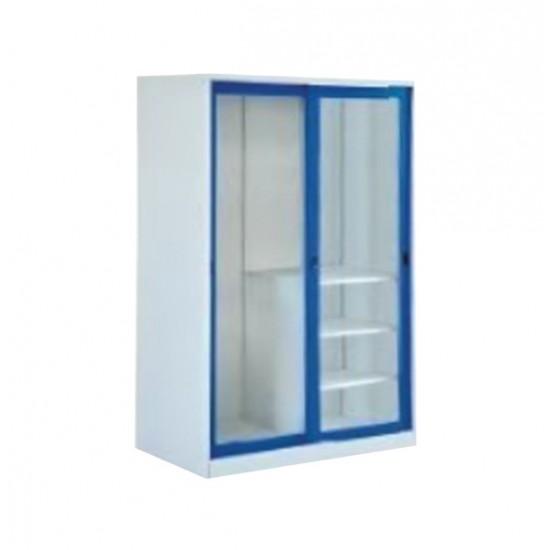 ตู้เสื้อผ้าบานเลื่อนกระจกใส 4 ฟุต
