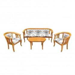 ชุดรับแขกคลาส-3-ที่นั่ง+โต๊ะกลางคลาสหน้าไม้จริง