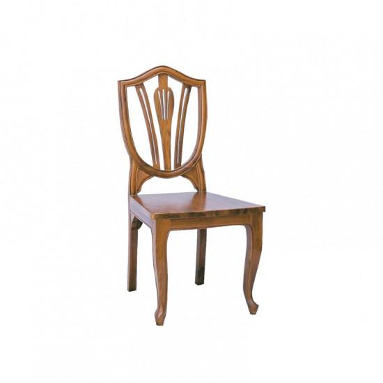 เก้าอี้ลูกข่างหลังไม้-พื้นไม้จริง