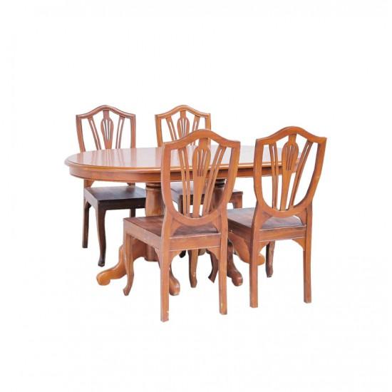 ชุดโต๊ะอาหารลูกข่าง 4 ที่นั่ง