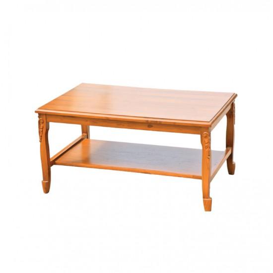 โต๊ะกลางสายไหมแกะลายหน้าไม้จริง