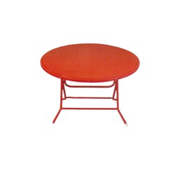 โต๊ะพับกลมหน้าเหล็ก SUN 112015